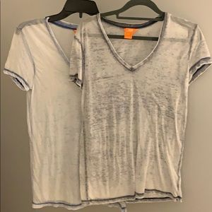 2 for 1 light grey and light blue burnout tees